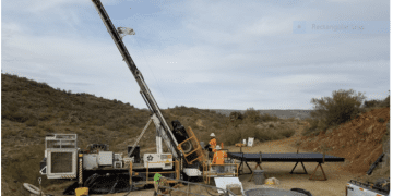 Drill rig turning at start of Kay Mine Phase 2 expansion program (Jan 6, 2021)