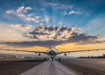 Armed Unmanned Aerial Vehicle on runway
