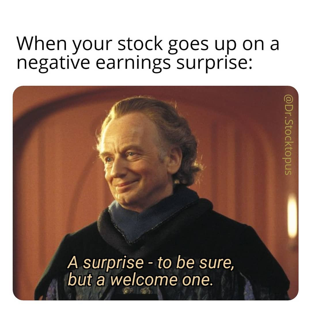 When your stock goes up on a negative earnings surprise meme - Finance Memes,  Tips, Photos, Videos